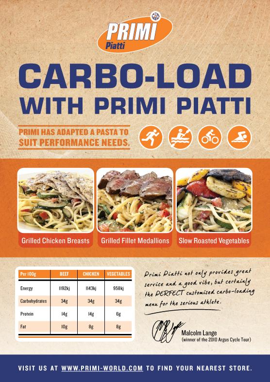 primi piatti carbo loading pasta menu